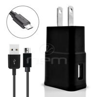 For BlackBerry Phones USB 3.1 Amp Wall Charger Adapter +3 ft Data Charging Cable