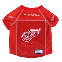 NEW DETROIT RED WINGS DOG PET PREMIUM JERSEY w/NAME TAG LE