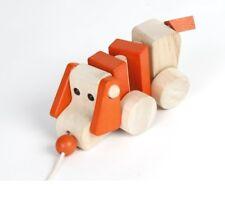 Holz Nachziehtier HUND Holzspielzeug 22 cm beweglich NEU