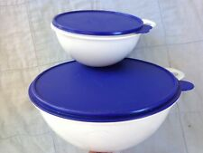 "Set of 2 Tupperware  ""Thatsa"" Bowls # 2540 & 2577 with Seals"