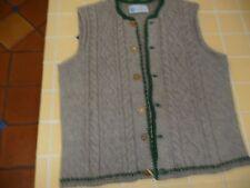 VTG Theo Huber Mens Knit Wool Sweater Vest Bone Buttons Medium fr Germany
