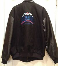 Men's Black Snap Front Aquafina Embroidered Coat By North End Size XL
