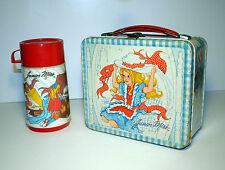 Junior Miss - with Hat & Trunk - vintage metal lunchbox