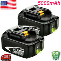 2X 5.0Ah BL1860B Lithium for Makita BL1850 18V LXT Battery BL1850B BL1830 LXT400