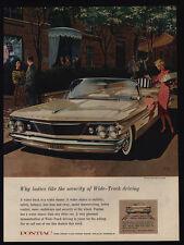 1960 PONTIAC BONNEVILLE Convertible Car - Ladies Like Security - VINTAGE AD