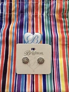 New Brighton Ferrara Silver Stud Earrings One Size From The Ferrara Collection