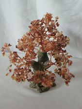 Amber Tree of Happiness 10 inches High Copper Colored Wire