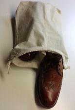 10 x Schuhbeutel m. Mittelsteg Aufbewahrung Schuhe 28 x 32 cm Zuziehbeutel Natur