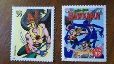 Superhero Hawkman Hawk Man Comics Stamps for Red Cross relief