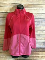 THE NORTH FACE Track Jacket Size Medium Womens Pink Full Zip Athletic Running