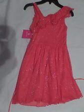 Girl's Melon Colored Dress Size 10, By Amy Byer, NWT