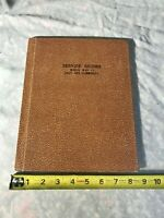 Service Record World War II Galt And Community OES Book Missouri