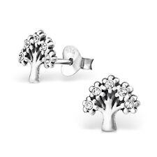 paire ARGENT MASSIF 925 ARBRE DE VIE Boucles d'oreilles pierre précieuse