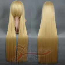 """Chobits Chii 120cm/47"""" Cream Blond Long Straight Cosplay Wig"""