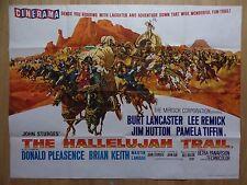 THE HALLELUJAH TRAIL (1965) - original UK quad film/movie poster, western