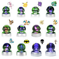 3D Lamp Pokemon Meotwo Pokeball Crystal Ball LED Night light 12 Models Xmas Gift