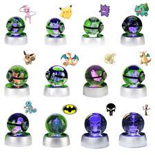 Toy 3D Lamp Pokemon Meotwo Pokeball Crystal Ball LED Night light 12 Models Gift