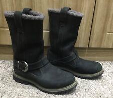 TIMBERLAND WATERPROOF WOMEN BOYS SHOES BOOTS SIZE 6W Appox 4UK black