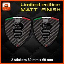 Matt Carbon look ALFA ROMEO sticker decal aufkleber adesivo Mito Giulietta 147