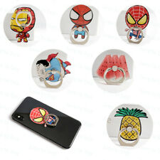 Rotating 360° Cartoon Finger Grip Ring Stand Phone Holder For iPhone Smart Phone