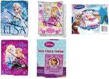 Disney Throw Blanket Frozen Anna Elsa Sofia the First Silky Touch New