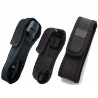 LED Flashlight Torch Lamp Light Holster Holder Carry Case Belt Pouch Nylon SO