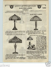 1924 PAPER AD 5 PG Coleman Gas Gasoline Quick Lite Lamps RARE Lindsay Art Glass