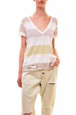 Wildfox Women's Authentic Stripe Stellar Shirt White Size S RRP £77 BCF83