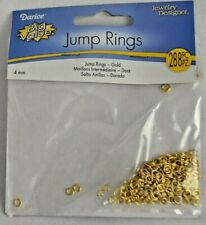 New! Darice Jump Rings - Gold Plated Brass - 4mm - #1880-97- 288 pieces