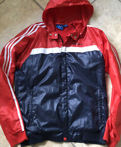 Rare Adidas Gloss  Wind Jacket Wet look glanz Shiny M Vtg 90s
