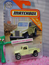 2019 Matchbox #31 '51 WILLYS JEEP PICKUP 4X4☆pale yellow☆CONSTRUCTION 15/20☆