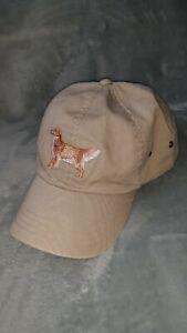 Vintage L.L. Bean Hat cap golden retriever Dog strapback vtg unique