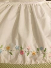 """New ListingPottery Barn Kids Embroidered Bed skirt Twin 39""""x76""""x16"""""""