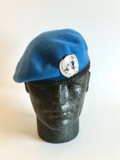 British Army-Issue United Nations Beret & Badge. Size 60cm.