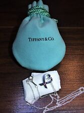 Tiffany & Co. SS 925 Paloma Picasso Loving Heart Sapphire Pendant 16in Necklace