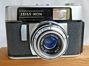 Zeiss Ikon Colora 35mm Camera, Novicar f2.8 50mm Lens Prontor Shutter & Case