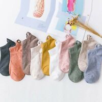 1 Pair Cute Cartoon Embroidered Expression Socks Women's Cotton Boat Ankle Socks