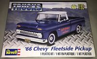 Revell '66 Chevy Fleetside Pickup Truck 1:25 scale plastic model kit new 7225