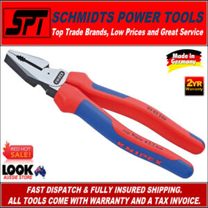"""KNIPEX 02 02 200 LINESMANS COMBINATION PLIERS 8"""" 200mm HIGH LEVERAGE 0202200 NEW"""