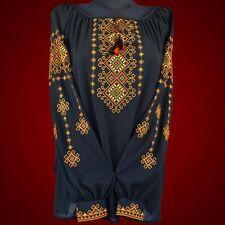 Ukrainian embroidery, embroidered blouse, chiffon, XS - 4XL, Ukraine