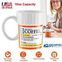 Ceramic 10oz Prescription Coffee Mug Tea Cup Funny Gift for Caffeine Lover New