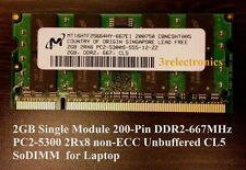 2GB Single 200-Pin DDR2 PC2-5300S 667MHz CL5 SDRAM SODIMM LAPTOP MEMORY