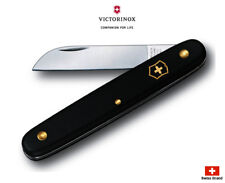 Victorinox Swiss Grafting Floral Knife With Straight Blade Black 3.9050.3