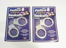 2 PAIR OF TOY METAL HANDCUFFS WITH KEYS KIDS HANDCUFF RESTRAINTS COSTUME
