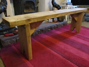 BESPOKE  H90 W120 D30cm BENCH Style CHUNKY RUSTIC Console Table