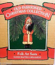 1987 Hallmark Ornament - Folk Art Santa - Old Fashioned Christmas Collection NEW