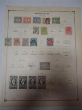 Vintage Netherlands Postage Stamps 1899-1926 On Page Lot of 18