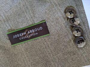 $550 Joseph Abboud 50L Silk Wool pink  / Taupe Check Tweed Blazer Jacket Coat