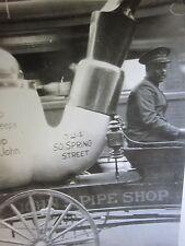 ANTIQUE JOHN'S PIPE SHOP LOS ANGELES SMOKING FOLK ART FLOAT PARADE OLD CA1 PHOTO