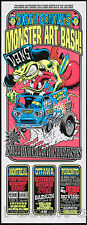 Dirty Donny Monster Art Bash Canadian Tour Silkscreen Poster 2009 Van Fink Roth